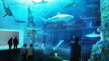 The Mariners development would include an aquarium.