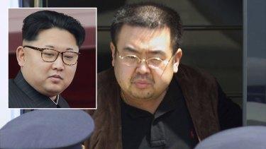 Kim Jong-nam and his half-brother Kim Jong-un (inset), who is North Korea's leader.
