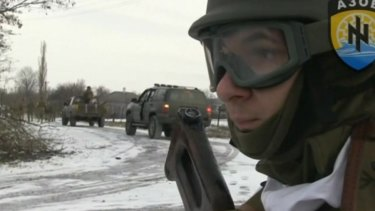 Ahead of a peace summit, Ukrainian government forces launch a counter-offensive near Mariupol in February.