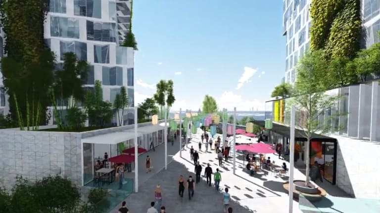 An artist's impression of a 'planned precinct' at Rhodes East that will include affordable rental properties.
