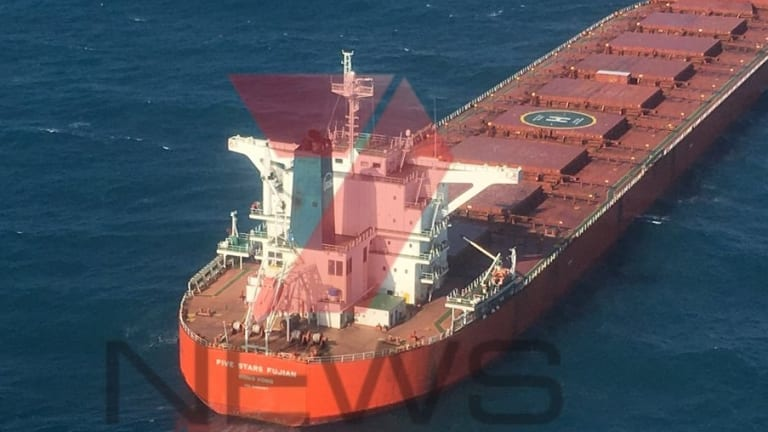 Coal vessel Five Stars Fujian.