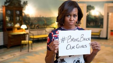 Crusade: Michelle Obama was one of thousands, who got behind the #BringBackOurGirls hastag.