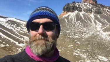 Palaeontologist Dr Steve Salisbury during the Antarctica trip.