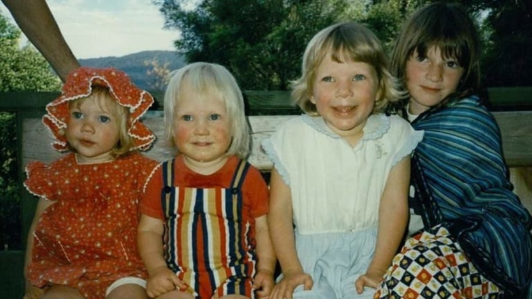 From left: Pippa Coram (Greig's cousin), Greig Friday, Alie Friday (Greig's sister) and Georgie Coram (cousin).