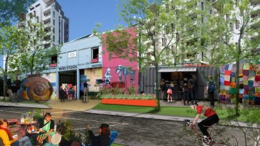 An artist's impression of development at Fishermans Bend in Melbourne.