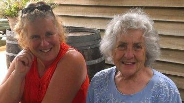 Diane Rojek (left) with her mother Renee Scott who is carrying a superbug