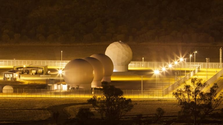 Radomes at Pine Gap