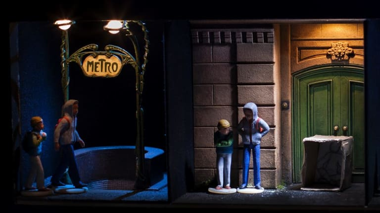 <i>Flight</i>, by Scottish theatre group Vox Motus, uses dioramas and models to convey the plight of young refugees.