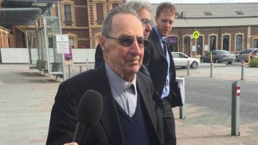 Former Ballarat Bishop Ronald Mulkearns attended an earlier hearing in Geelong.