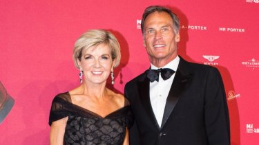 Foreign Affairs Minister Julie Bishop and David Patton at the MAAS Ball.