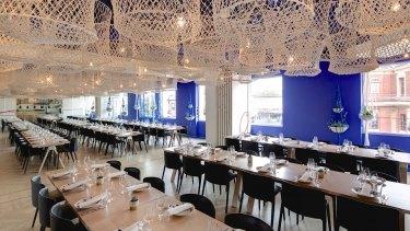 Inside the Hellenic Republic restaurant in Kew.
