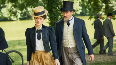 Keira Knightley and Dominic West in Colette: ''He wasn't allowing her to have her own identity,'' says Knightley.