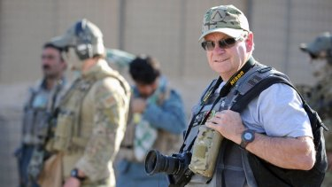 Chris Masters in Afghanistan in 2011.