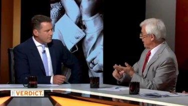 Stefanovic in an exchange with Julian Burnside on Thursday night's program.