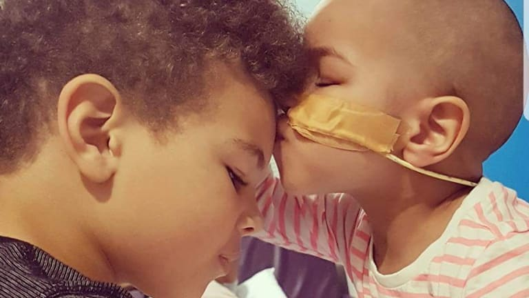 Jaye Exantus, 5, was his sister Ivy's bone marrow donor.