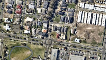 Asbestos and building waste from Carlton's Corkman Irish Pub was found dumped at the Cairnlea property in the right of this photo. The Cairnlea site belongs to the same owners as the Carlton property.
