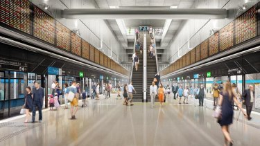 Melbourne, meet your new train station, with glass panels to help queuing.