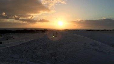 The beautiful sand dunes in Lancelin.