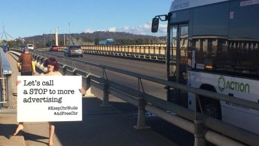 Ad Free Canberra's cheeky social media campaign drew attention to the billboard inquiry.