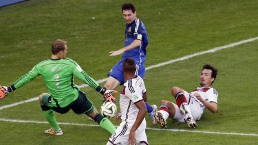 Lionel Messi struggled at times to influence the game.
