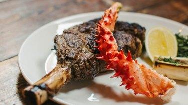 A ribeye steak from Longhorn Saloon.