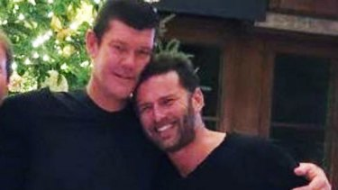 Karl Stefanovic with James Packer, in Bora Bora. Picture: Instagram