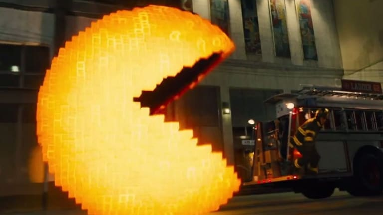 The trailer for <i>Pixels</i> shows several iconic game characters, including Pac-Man, terrorising New York.