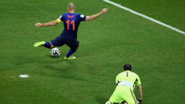Arjen Robben scored two in the stunning win.