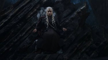 Which throne is the mother of dragons sitting on in the season 7 trailer?