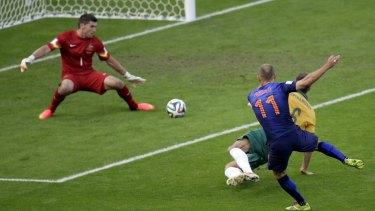Arjen Robben has been in destructive fun during the World Cup.