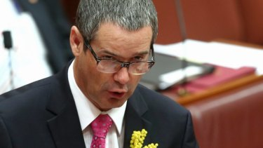 Former communications minister, Labor senator Stephen Conroy is believed to be one of the people being raided.