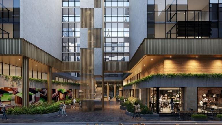 A view of the laneway off Cooyong Street in designs for a the apartment block.