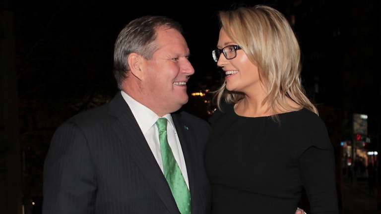 Ex-lord mayor Robert Doyle with his wife Emma Page Campbell.