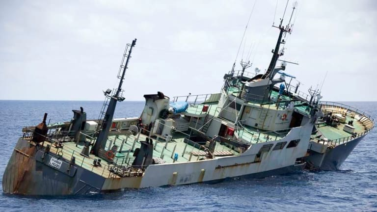 According to Interpol, the boat has illegally reaped tens of millions of dollars worth of prized 'white gold' toothfish.