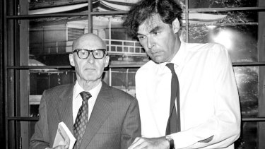 Kenneth Gee (left) and Professor David Armstrong, pictured at a press conference for The Friends Of Vietnam at the Rex Carlton Hotel, Sydney on 31 January 1973.