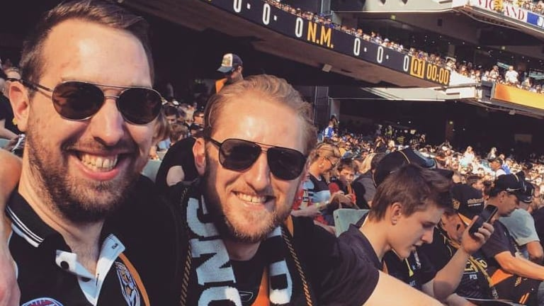 Dan Bentley (right) with his brother Luke: ''I thought it would be safe to go overseas''.