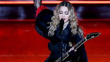 Star of the show: Madonna performs at Allphones Arena.
