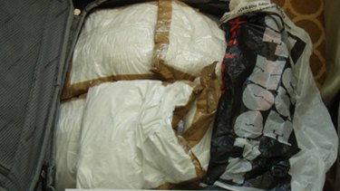 Part of the alleged haul of 95 kilograms of cocaine.