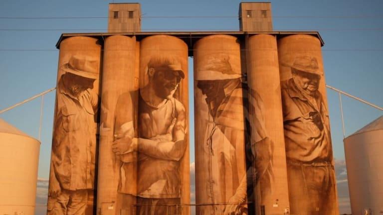 The silos at Brim.