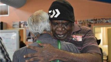 Yindjibarndi Aboriginal Corporation director Stanley Warrie reacts to Thursday's judgment.