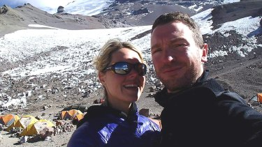 Maria Strydom, who died on a climb to the summit of Mount Everest, and her husband Robert Gropal.