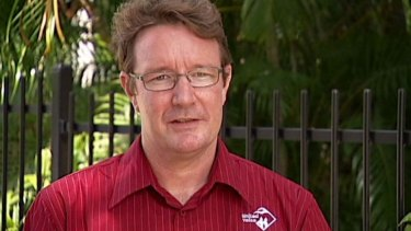 Hard to charge: Matthew Gardiner has been detained at Darwin Airport.