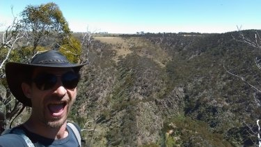 David Occhipinti is believed to have posted this selfie on Facebook before going missing while hiking north-west of Melbourne.