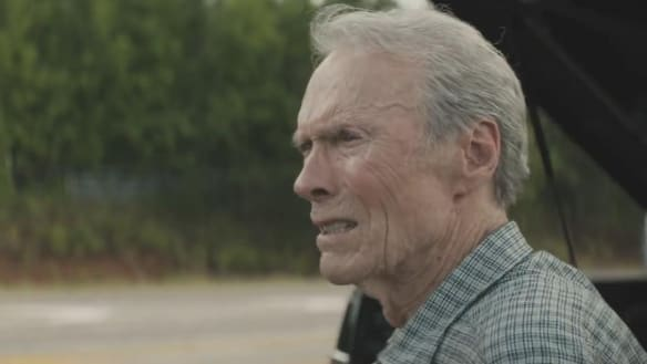 Clint Eastwood in The Mule, looking frailer as an elderly drug courier.
