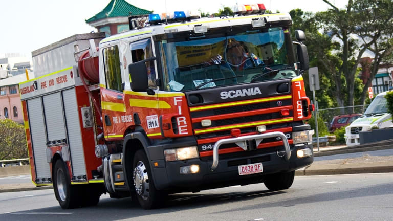 QFES crews are fighting a fire in Cape Cleveland, south-east of Townsville.