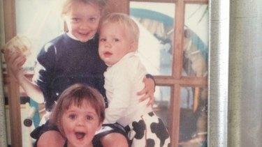 Jenna Price's three children, then aged 6, 3 and 1.