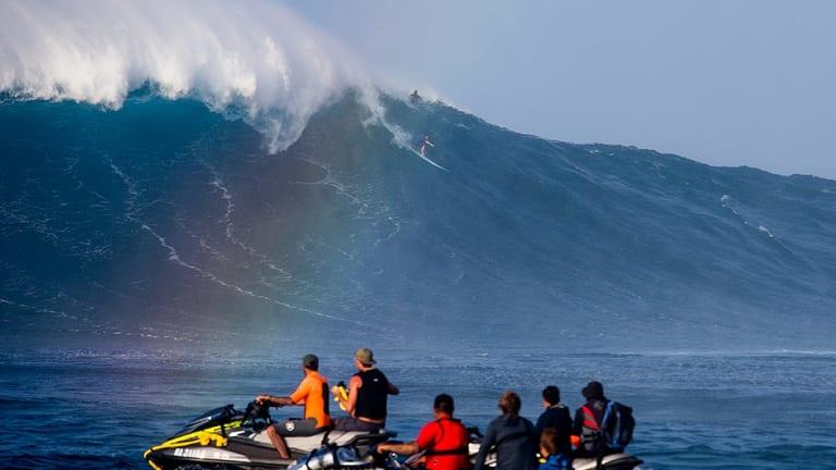 Mark Visser catching a wave last week.