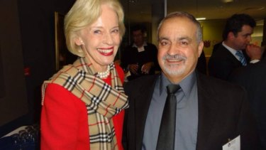 Elie Issa, pictured here with former Governor-General Quentin Bryce.