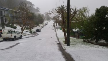The intense Central Coast NSW hailstorm taken from Wamberal.