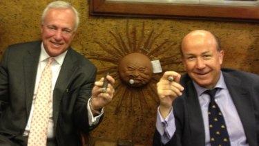 NewSat directors Chuck Ellis (left) and Adrian Ballintine.